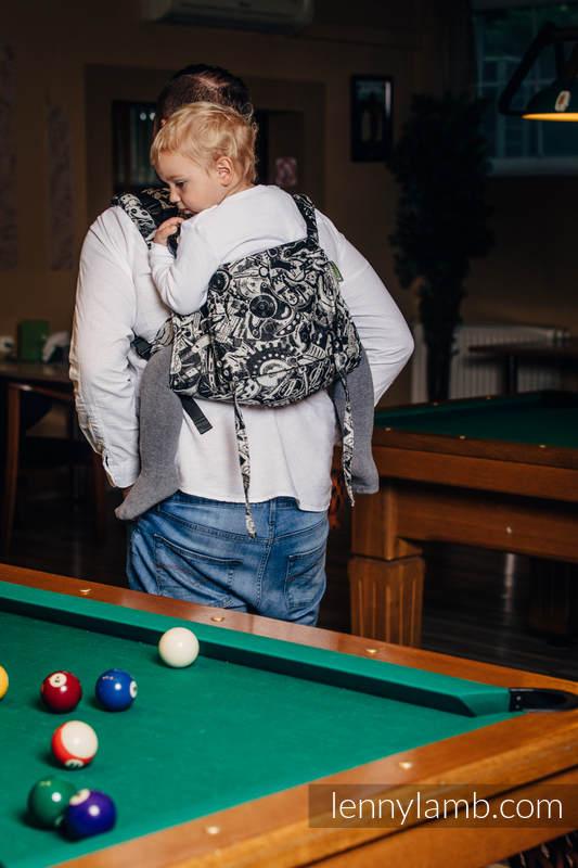 Nosidło Klamrowe ONBUHIMO z tkaniny żakardowej (100% bawełna), rozmiar Standard - MECHANIZM  #babywearing