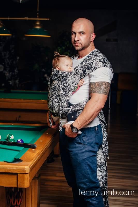 WRAP-TAI carrier Toddler with hood/ jacquard twill / 100% cotton / CLOCKWORK  #babywearing