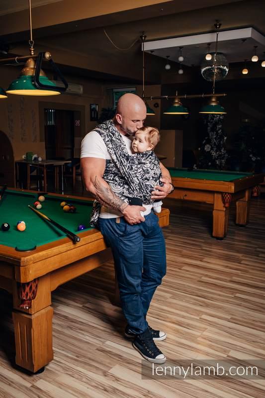 Żakardowa chusta do noszenia dzieci, bawełna - MECHANIZM - rozmiar XS #babywearing