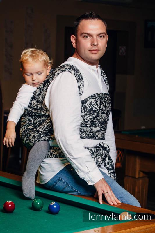 Baby Wrap, Jacquard Weave (100% cotton) - CLOCKWORK - size S #babywearing