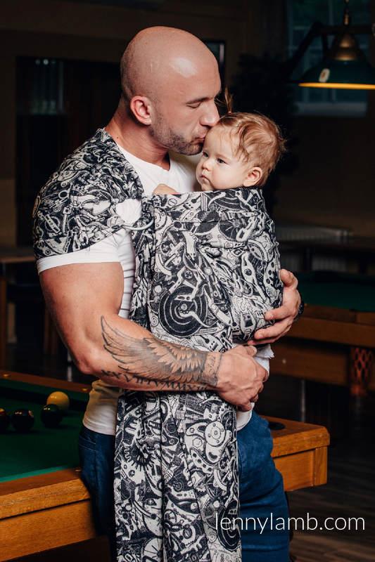 Żakardowa chusta kółkowa do noszenia dzieci, bawełna - MECHANIZM  - long 2.1m #babywearing