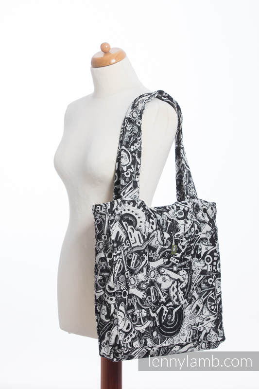 Shoulder bag made of wrap fabric (100% cotton) - CLOCKWORK - standard size 37cmx37cm #babywearing