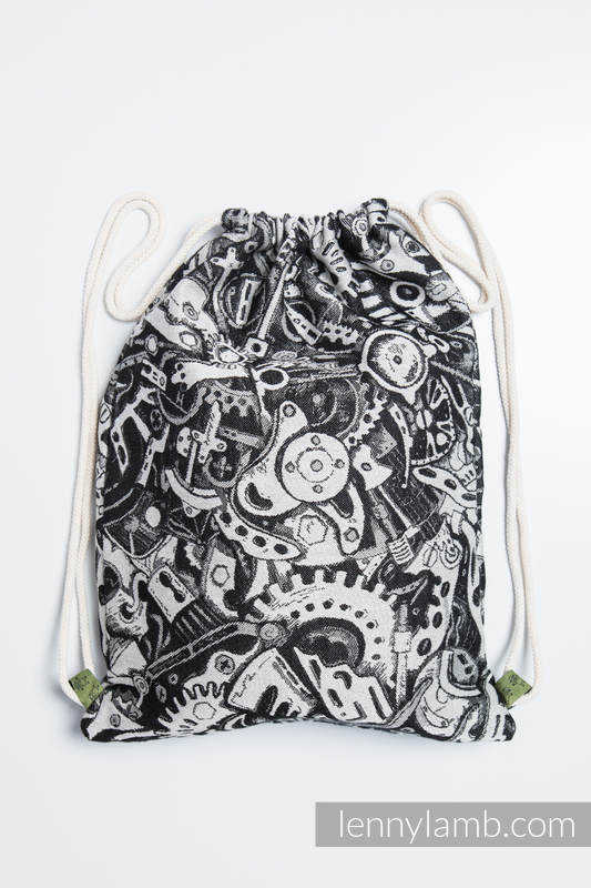 Sackpack made of wrap fabric (100% cotton) - CLOCKWORK - standard size 32cmx43cm #babywearing