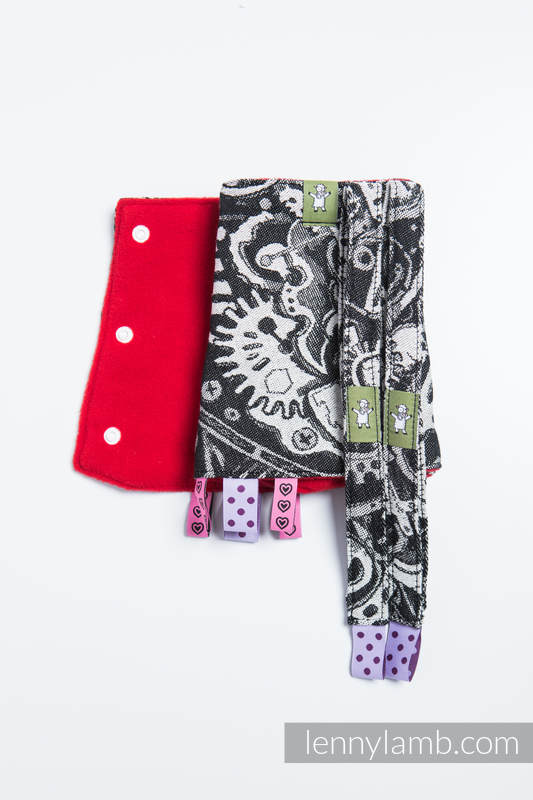 Drool Pads & Reach Straps Set, (60% cotton, 40% polyester) - CLOCKWORK  #babywearing