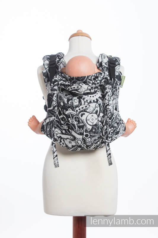 Lenny Buckle Onbuhimo baby carrier, toddler size, jacquard weave (100% cotton) - CLOCKWORK  #babywearing