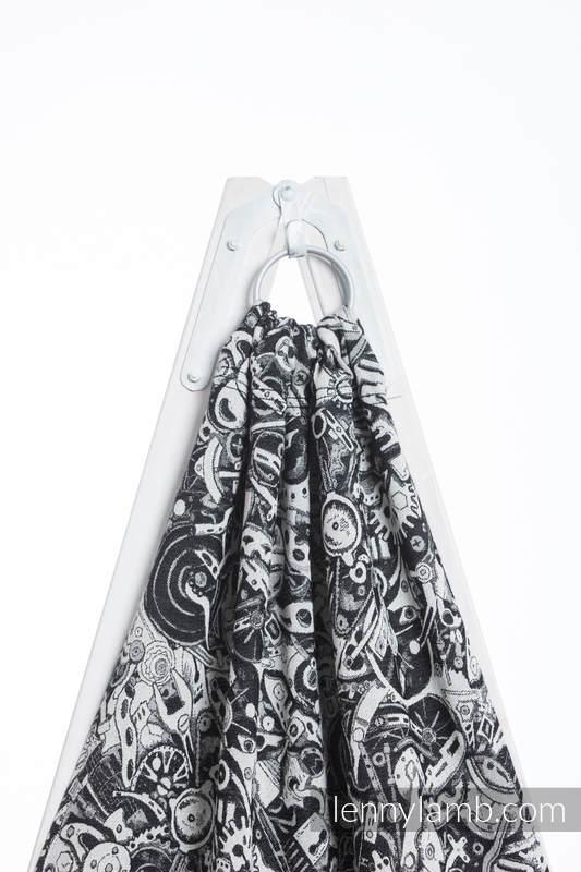 Bandolera de anillas, tejido Jacquard (100% algodón) - con plegado simple -  CLOCKWORK - standard 1.8m #babywearing