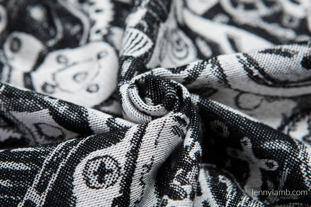 Baby Wrap, Jacquard Weave (100% cotton) - CLOCKWORK - size M #babywearing