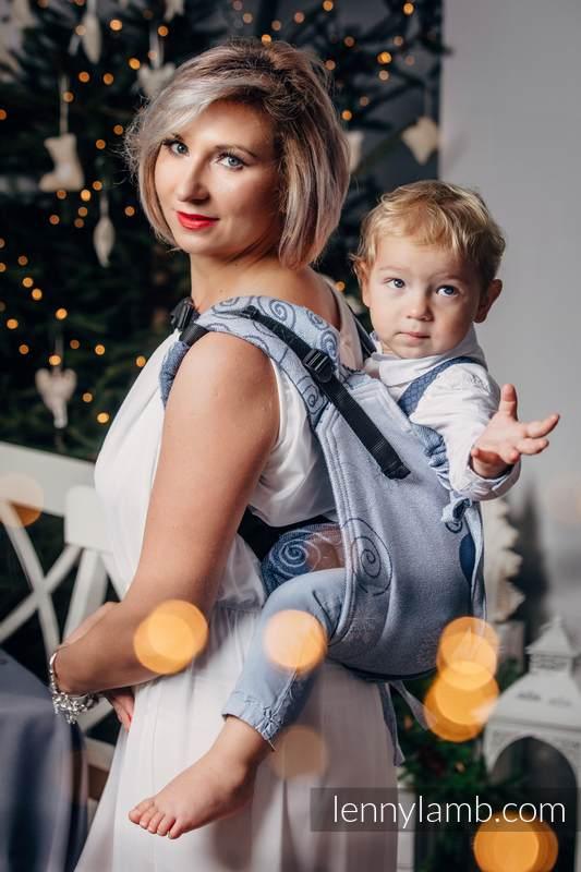 Nosidło Klamrowe ONBUHIMO z tkaniny żakardowej (100% bawełna), rozmiar Toddler - ZIMOWA KSIĘŻNICZKA  #babywearing