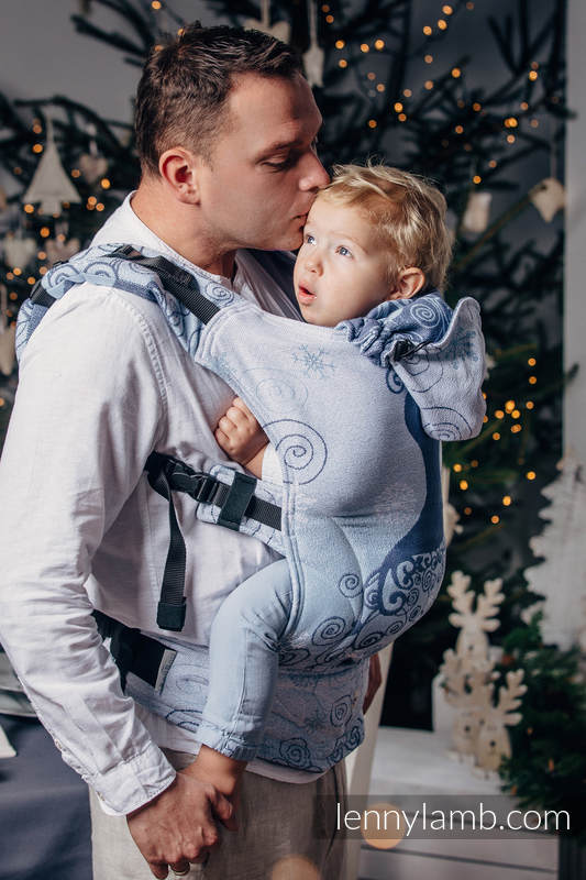 Ergonomic Carrier, Baby Size, jacquard weave 100% cotton - WINTER PRINCESSA - Second Generation (grade B) #babywearing