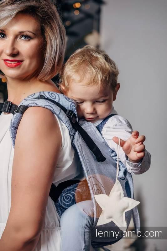 Nosidło Klamrowe ONBUHIMO z tkaniny żakardowej (100% bawełna), rozmiar Standard - ZIMOWA KSIĘŻNICZKA (drugi gatunek) #babywearing
