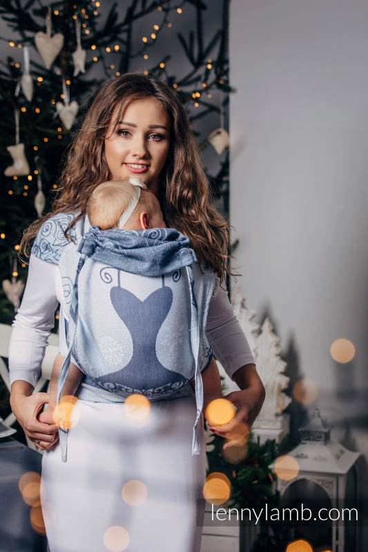 WRAP-TAI carrier Mini with hood/ jacquard twill / 100% cotton / WINTER PRINCESSA   #babywearing