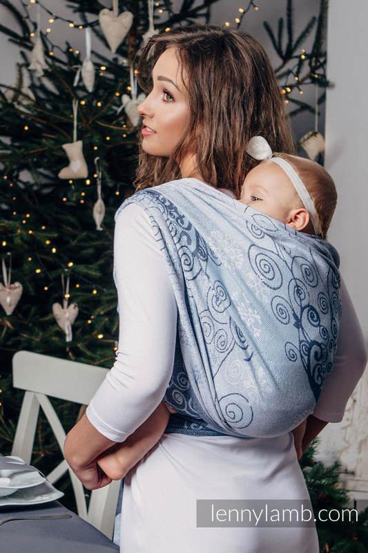 Żakardowa chusta do noszenia dzieci, bawełna - ZIMOWA KSIĘŻNICZKA - rozmiar XS #babywearing