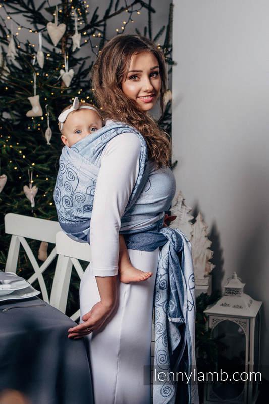 Żakardowa chusta do noszenia dzieci, bawełna - ZIMOWA KSIĘŻNICZKA - rozmiar XL #babywearing