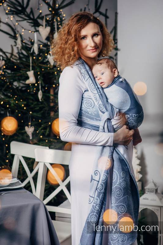 Baby Wrap, Jacquard Weave (100% cotton) - WINTER PRINCESSA - size S #babywearing