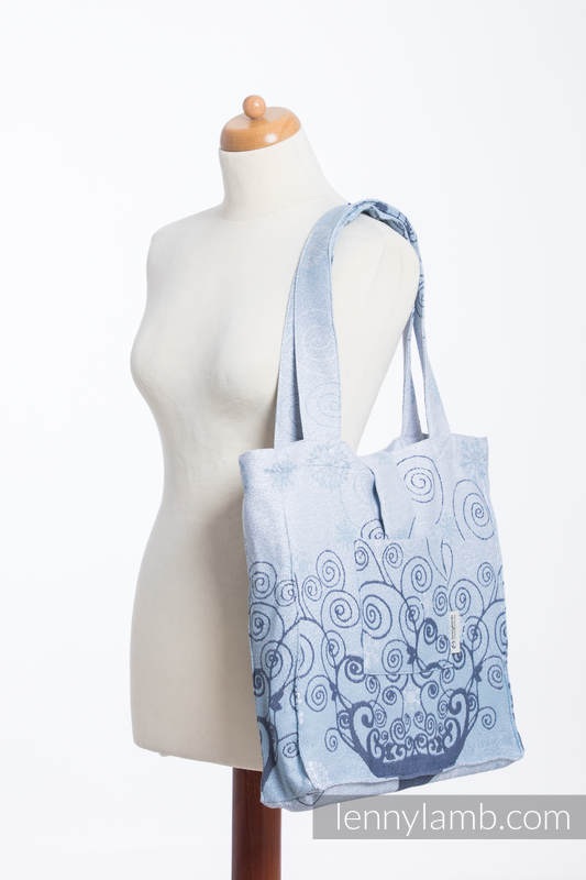 Shoulder bag made of wrap fabric (100% cotton) - WINTER PRINCESSA - standard size 37cmx37cm #babywearing