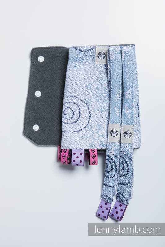 Drool Pads & Reach Straps Set, (100% cotton) - WINTER PRINCESSA  #babywearing