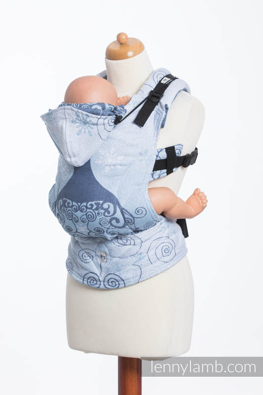 Ergonomic Carrier, Toddler Size, jacquard weave 100% cotton - WINTER PRINCESSA - Second Generation (grade B) #babywearing