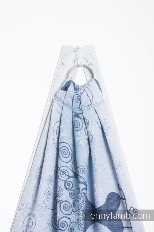 Ringsling, Jacquard Weave (100% cotton) - WINTER PRINCESS - standard 1.8m #babywearing