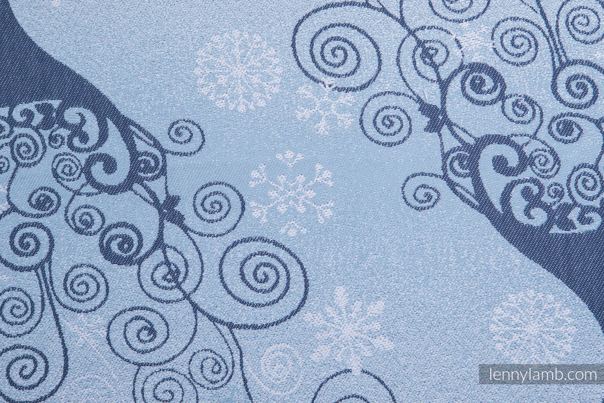 Baby Wrap, Jacquard Weave (100% cotton) - WINTER PRINCESSA - size M #babywearing