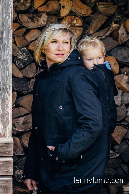 Parka de poteo - talla XL - Negro y Diamond Plaid #babywearing