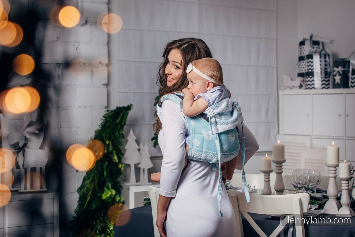 Lenny Buckle Onbuhimo, toddler size, jacquard weave (60% cotton 28% linen 12% tussah silk) - Wrap conversion from ARCTIC LACE #babywearing