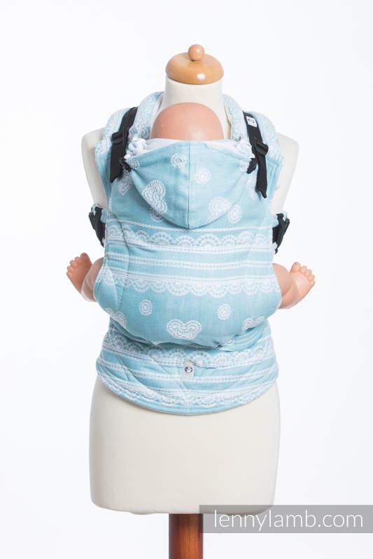 Nosidełko Ergonomiczne z tkaniny żakardowej 60% Bawełna 28% Len 12% Jedwab Tussah, Toddler Size, ARKTYCZNA KORONKA Druga Generacja #babywearing