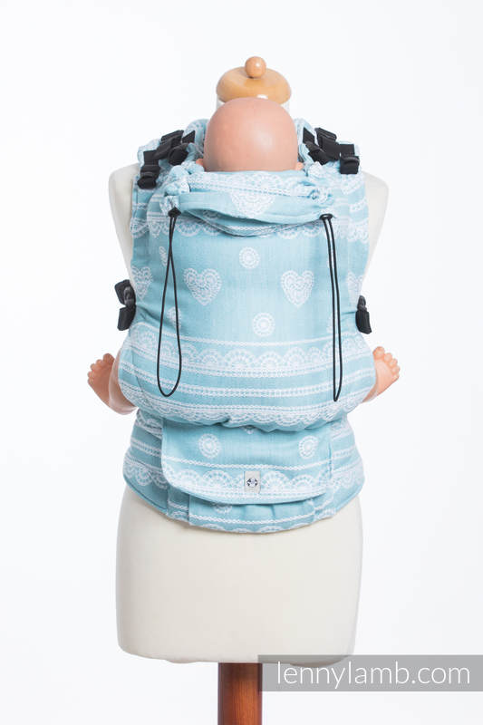 LennyUp Carrier, Standard Size, jacquard weave, 60% cotton, 28% linen 12% tussah silk - wrap conversion from ARCTIC LACE #babywearing