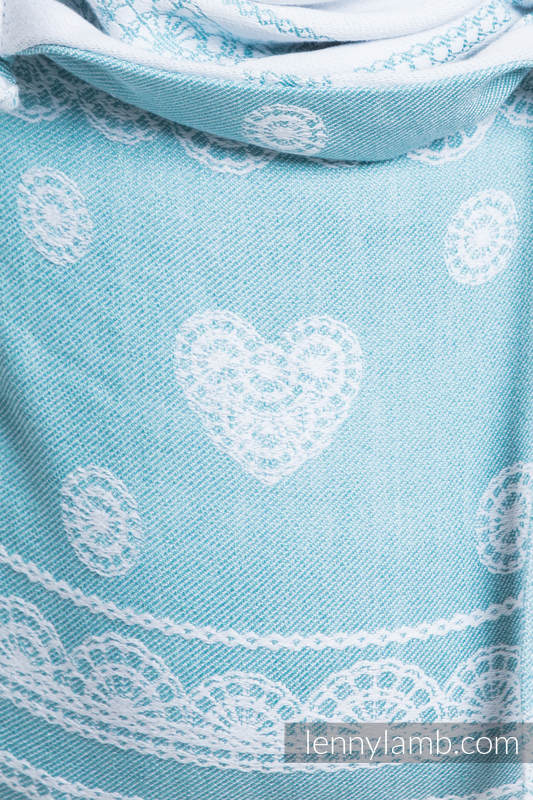 Lenny Buckle Onbuhimo baby carrier, standard size, jacquard weave (60% cotton 28% linen 12% tussah silk) - ARCTIC LACE #babywearing