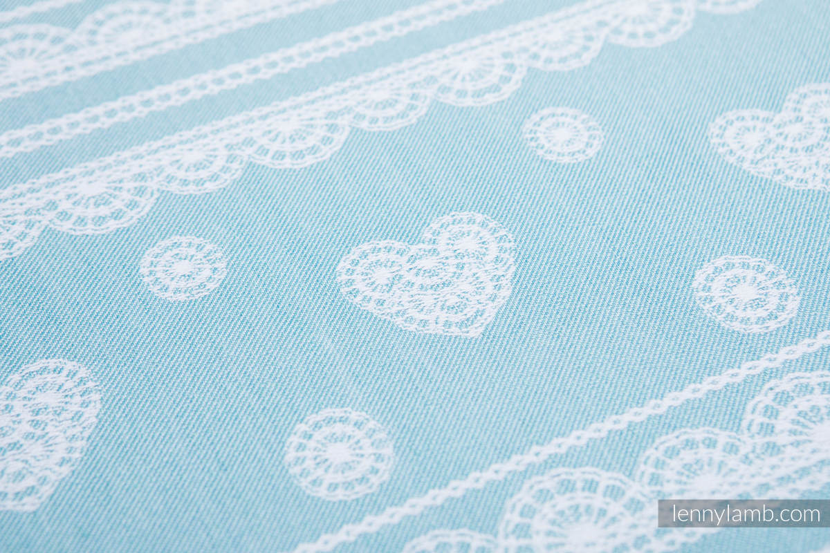 Baby Wrap, Jacquard Weave (60% cotton 28% linen 12% tussah silk) - ARCTIC LACE - size L (grade B) #babywearing