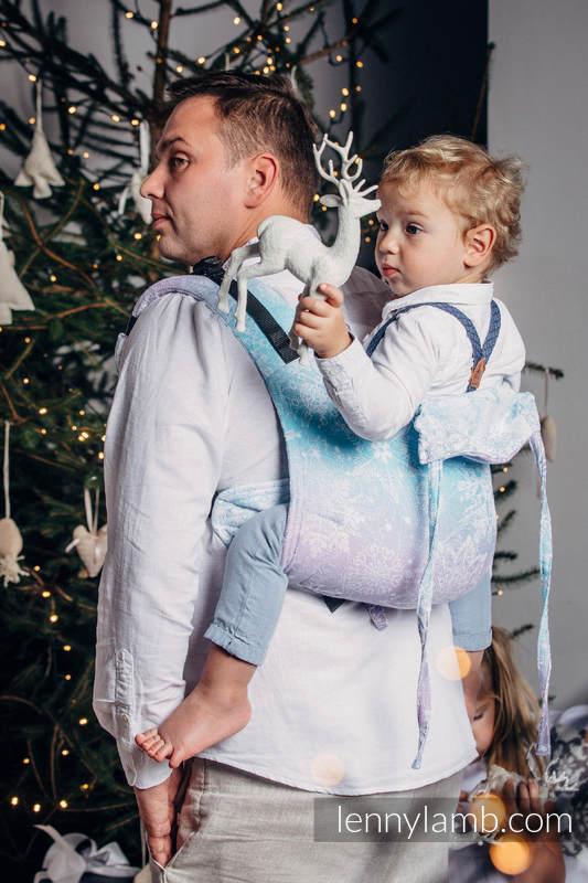 Lenny Buckle Onbuhimo Tragehilfe, Größe Standard, Jacquardwebung (96 % Baumwolle, 4% metallisiertes Garn) - GLITTERING SNOW QUEEN  #babywearing