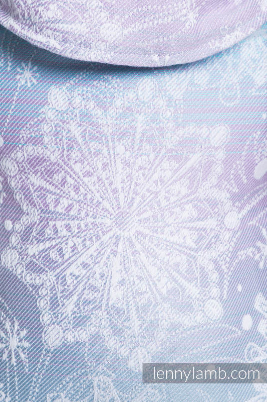 LennyUp Carrier, Standard Size, jacquard weave 96% cotton, 4% metallised yarn - GLITTERING SNOW QUEEN   #babywearing