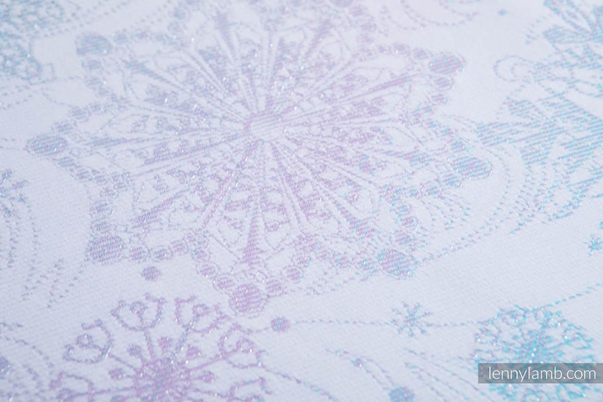 Baby Wrap, Jacquard Weave (96% cotton, 4% metallised yarn) - GLITTERING SNOW QUEEN - size XS #babywearing