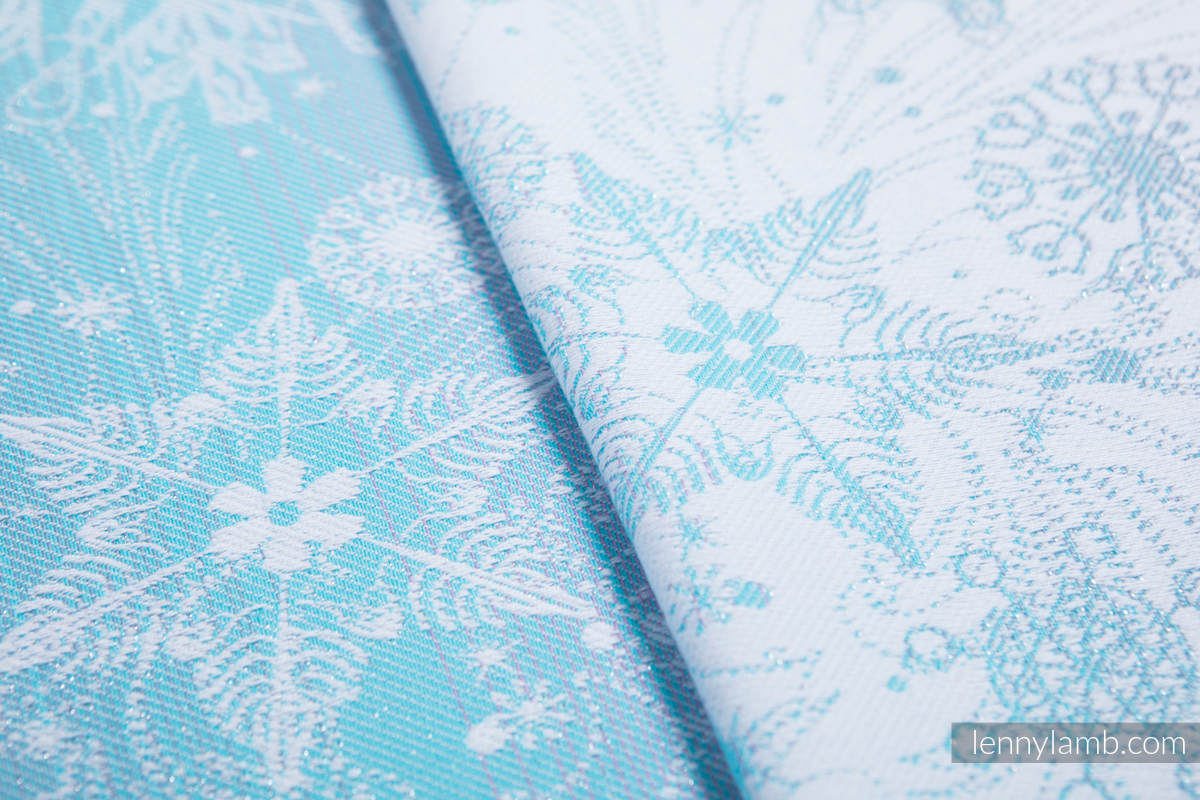 Doll Sling, Jacquard Weave, 96% cotton, 4% metallised yarn - GLITTERING SNOW QUEEN  #babywearing