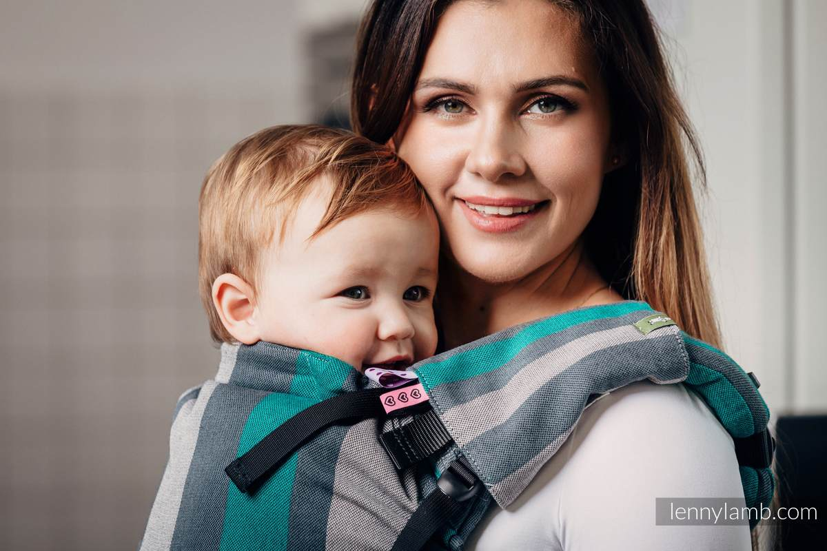 Nakładki Ochronne na Pasy Ramienne, (60% bawełna, 40% poliester) - Zestaw - SMOKY - MIĘTA  #babywearing
