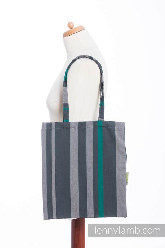 Shopping bag made of wrap fabric (100% cotton) - SMOKY - MINT  #babywearing