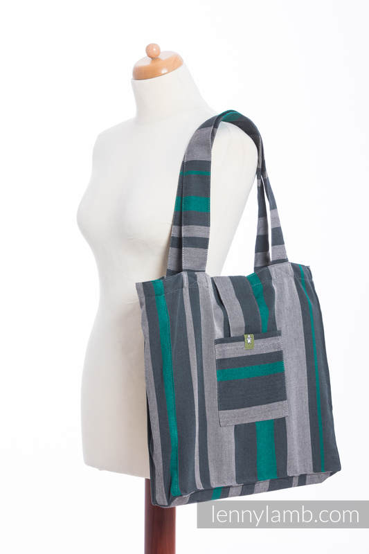 Shoulder bag made of wrap fabric (100% cotton) - SMOKY - MINT - standard size 37cmx37cm #babywearing