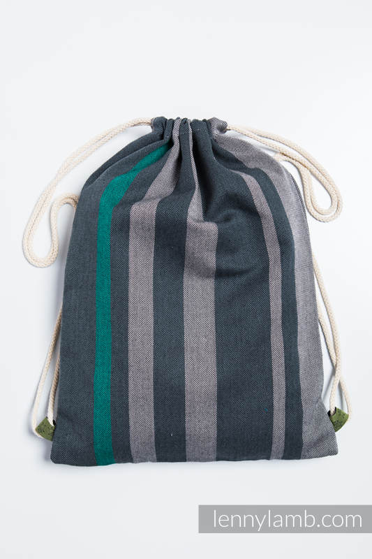 Sackpack made of wrap fabric (100% cotton) - SMOKY - MINT - standard size 32cmx43cm #babywearing