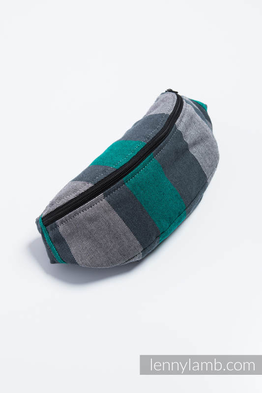 Waist Bag made of woven fabric, (100% cotton) - SMOKY - MINT  #babywearing