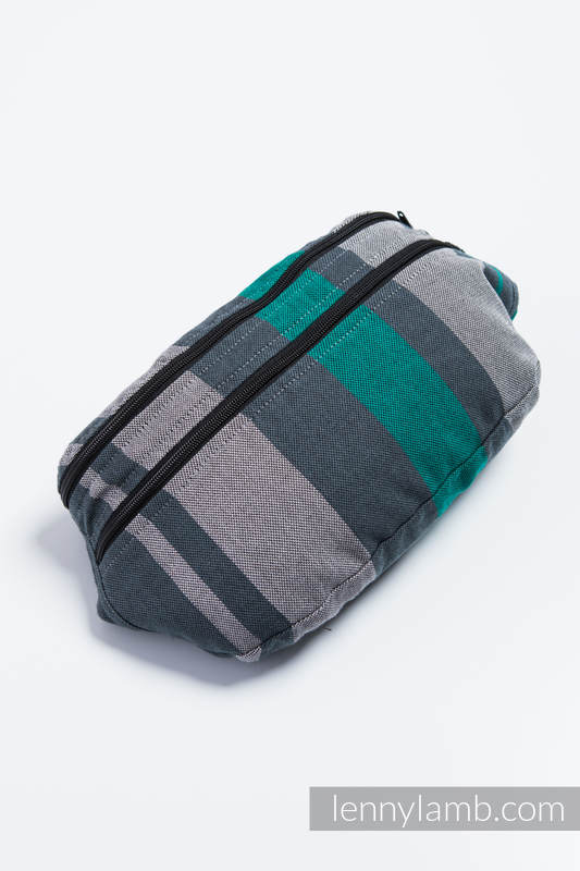 Waist Bag made of woven fabric, size large (100% cotton) - SMOKY - MINT  #babywearing
