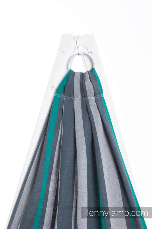 Ringsling, Broken twill Weave (100% cotton) - SMOKY - MINT - standard 1.8m #babywearing