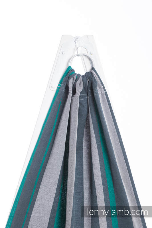 Ringsling, Broken twill Weave (100% cotton), with gathered shoulder - SMOKY - MINT - standard 1.8m #babywearing