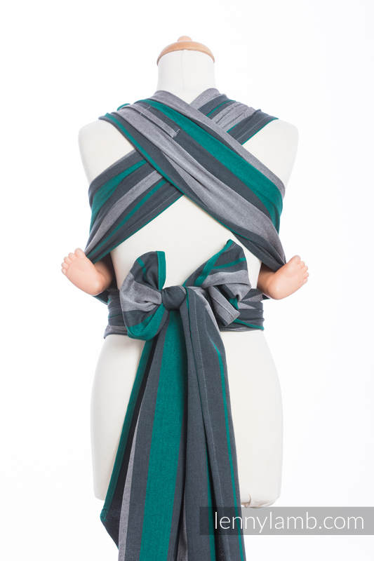 WRAP-TAI carrier Toddler, broken-twill weave - 100% cotton - with hood, SMOKY - MINT  #babywearing