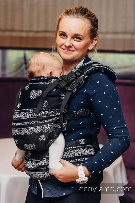 Nosidełko LennyUp z tkaniny żakardowej 100% bawełna , rozmiar standard, KORONKA GLAMOUR #babywearing