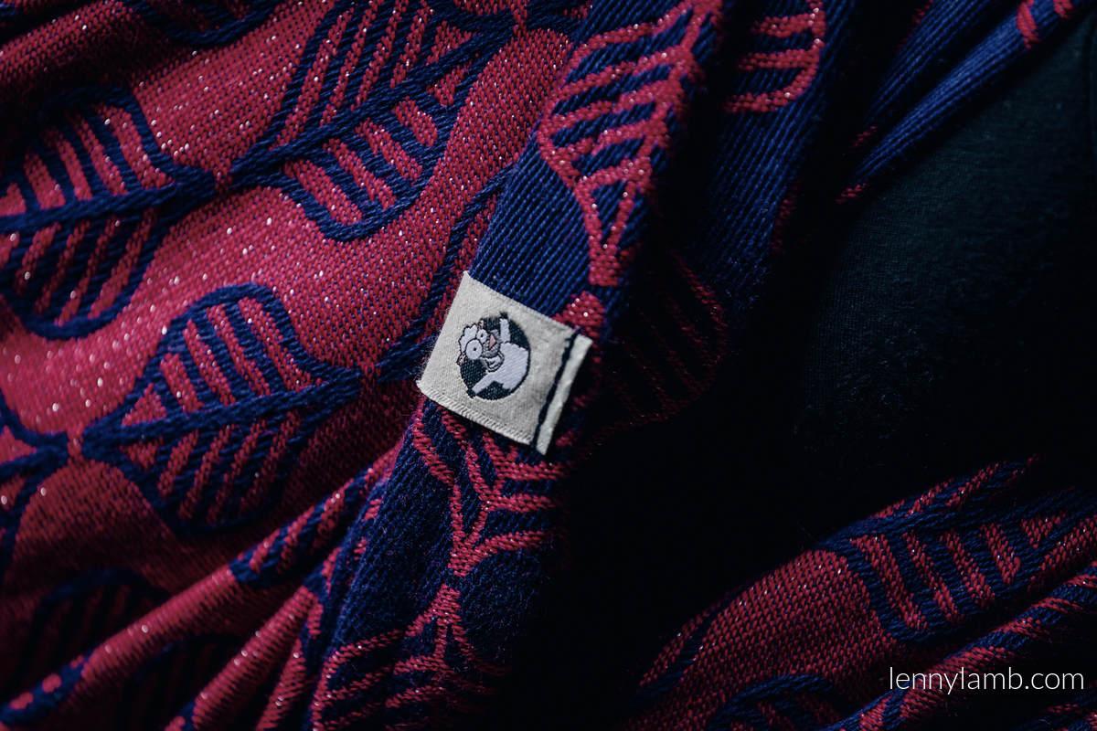 Fular, tejido jacquard (60% algodón, 36% lana merino, 4% hilo metalizado) - AMARYLLIS PETALS - talla M #babywearing