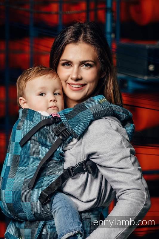 LennyUp Carrier, Standard Size, crackle weave 100% cotton - wrap conversion from QUARTET RAINY  #babywearing