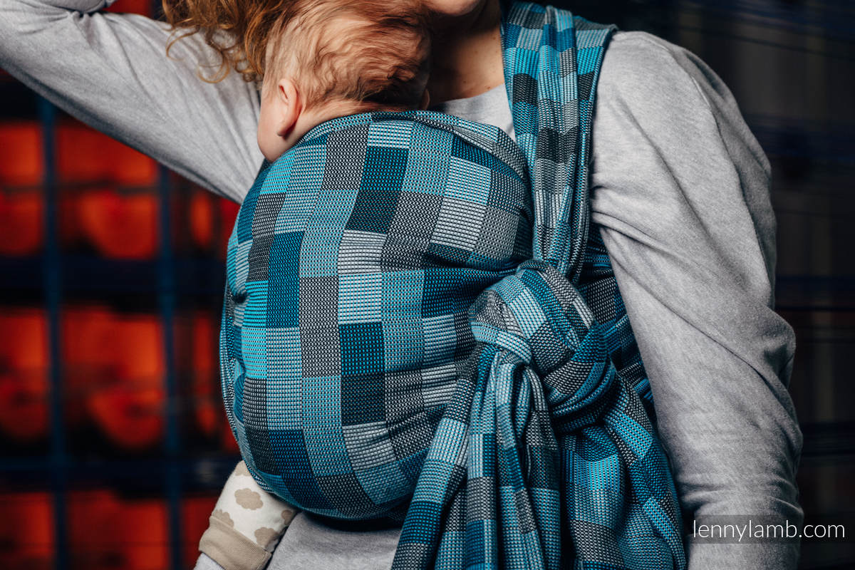 Baby Wrap, Crackle Weave (100% cotton) - QUARTET RAINY - size XL #babywearing