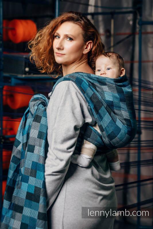 Baby Wrap, Crackle Weave (100% cotton) - QUARTET RAINY - size S #babywearing