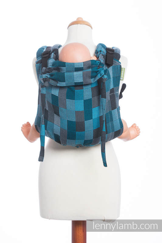 Lenny Buckle Onbuhimo, standard size, crackle weave (100% cotton) - Wrap conversion from QUARTET RAINY  #babywearing