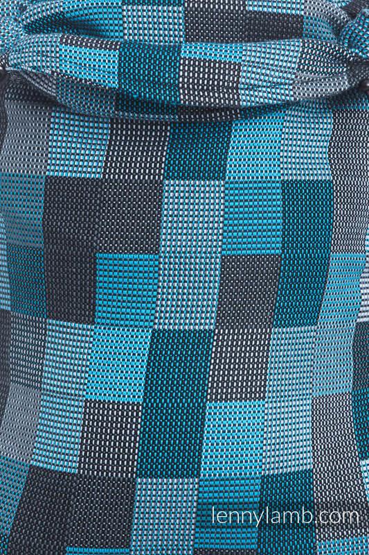 LennyUp Carrier, Standard Size, crackle weave 100% cotton - wrap conversion from QUARTET RAINY  #babywearing