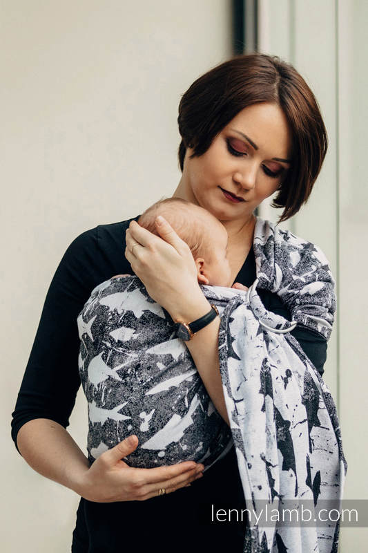 Ringsling, Jacquard Weave (100% cotton) - with gathered shoulder - FISH'KA  - long 2.1m #babywearing